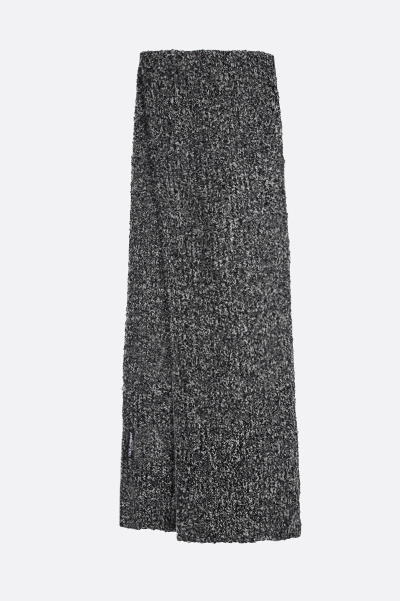 DOLCE & GABBANA: bicolour stretch wool scarf Color Grey_2