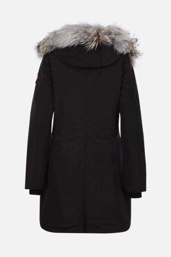 CANADA GOOSE: Rossclair technical canvas padded parka coat Color Black_2
