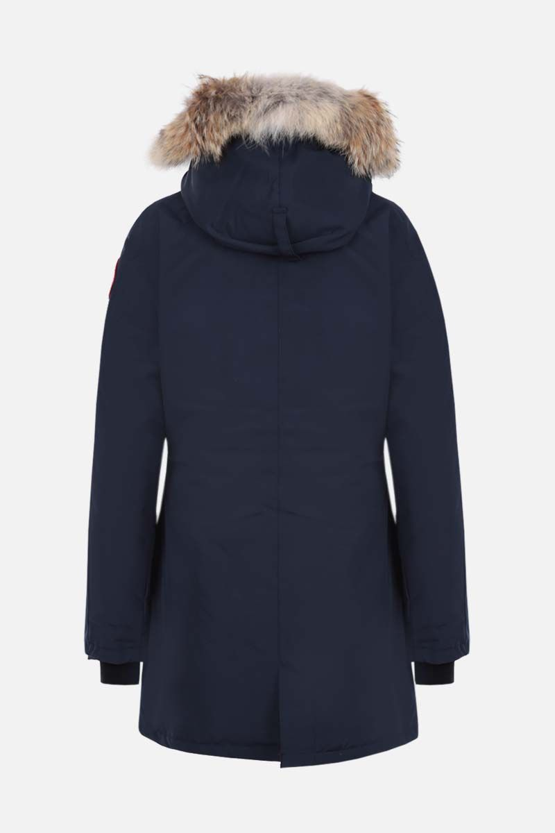 CANADA GOOSE: Victoria technical canvas padded parka coat Color Blue_2