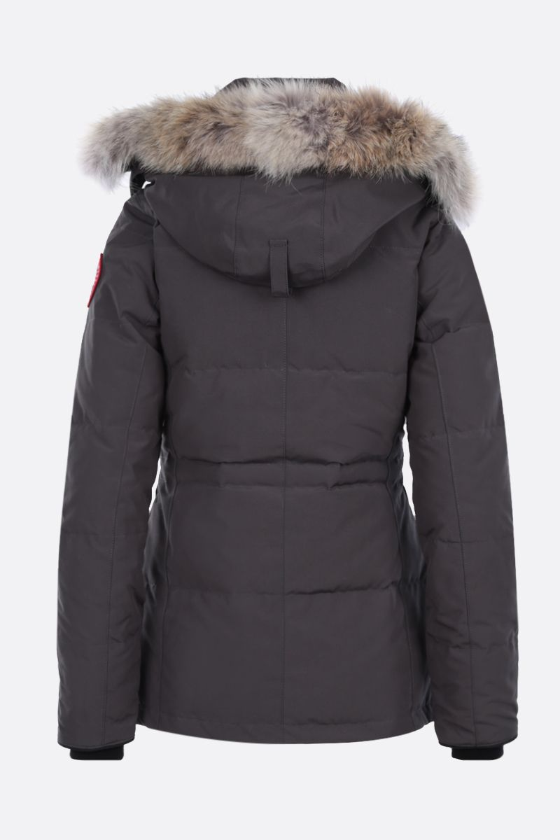 CANADA GOOSE: Chelsea technical canvas padded parka coat Color Grey_2