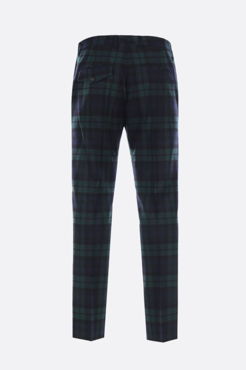 GOLDEN GOOSE DELUXE BRAND: Golden pants in check wool blend Color Black_2
