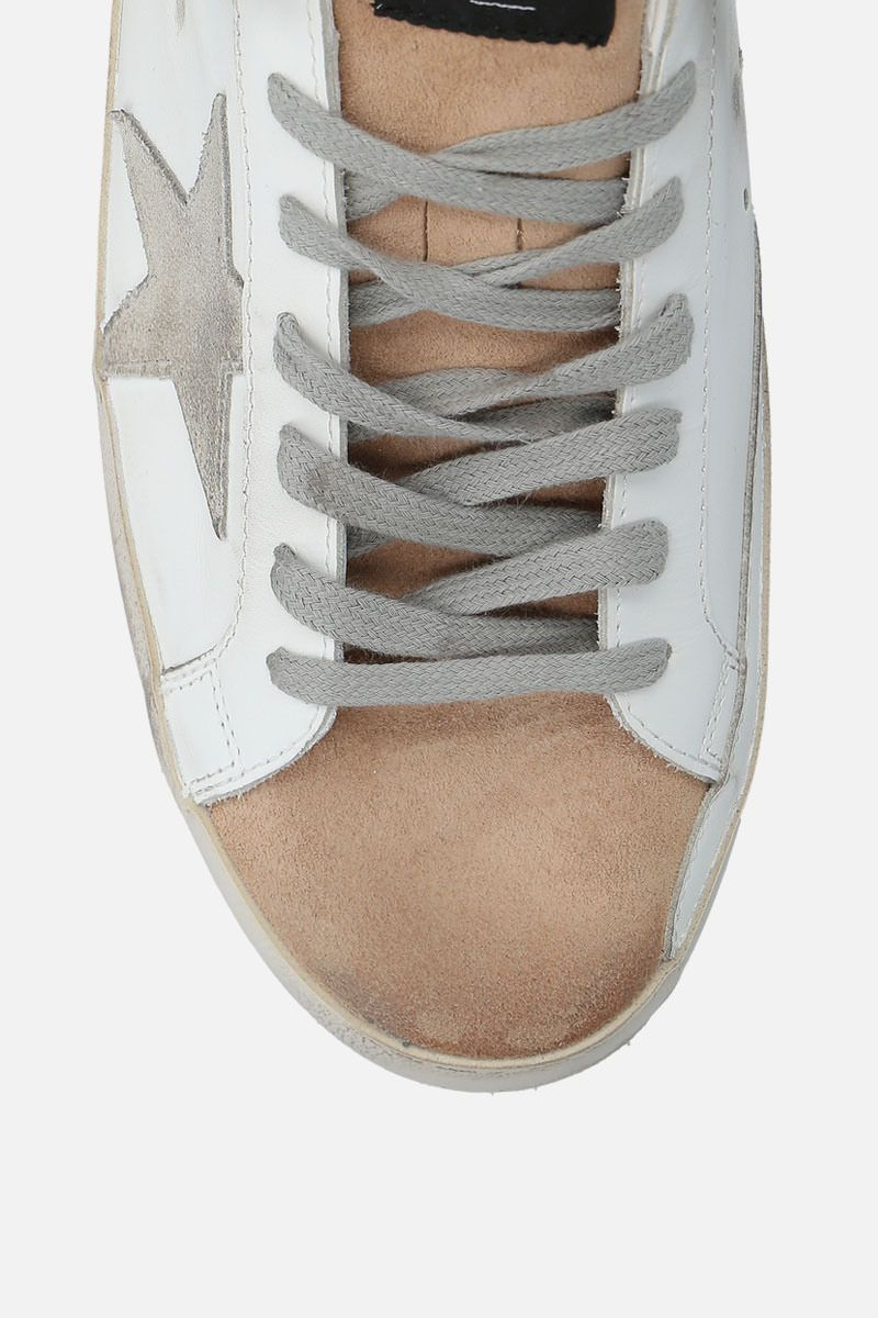 GOLDEN GOOSE DELUXE BRAND: Superstar sneakers in smooth leather and suede_4