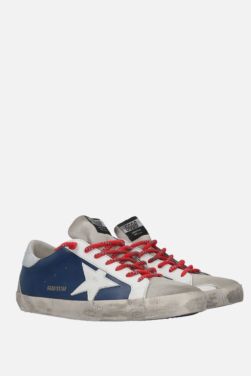 GOLDEN GOOSE DELUXE BRAND: Superstar sneakers in smooth leather and suede Color White_3