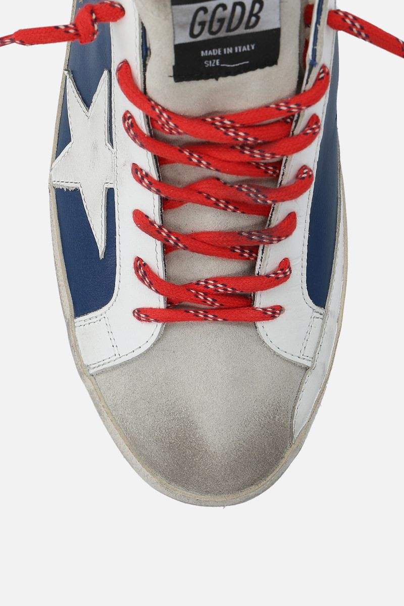 GOLDEN GOOSE DELUXE BRAND: Superstar sneakers in smooth leather and suede Color White_5