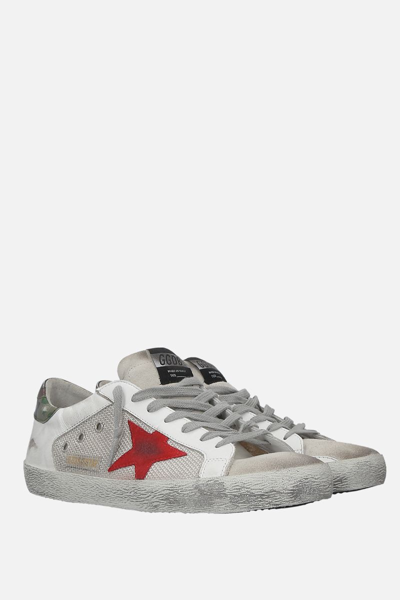 GOLDEN GOOSE DELUXE BRAND: Superstar sneakers in smooth leather and suede Color White_2