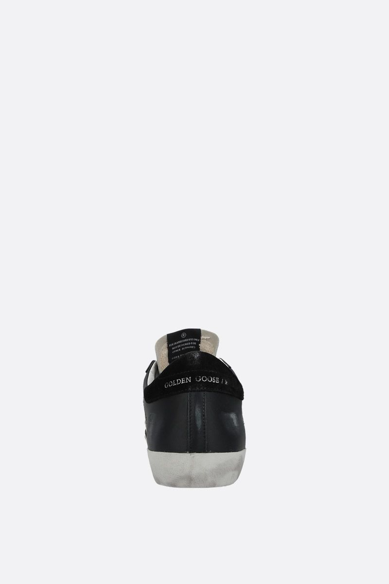 GOLDEN GOOSE DELUXE BRAND: Superstar sneakers in leather and mesh Color Black_3