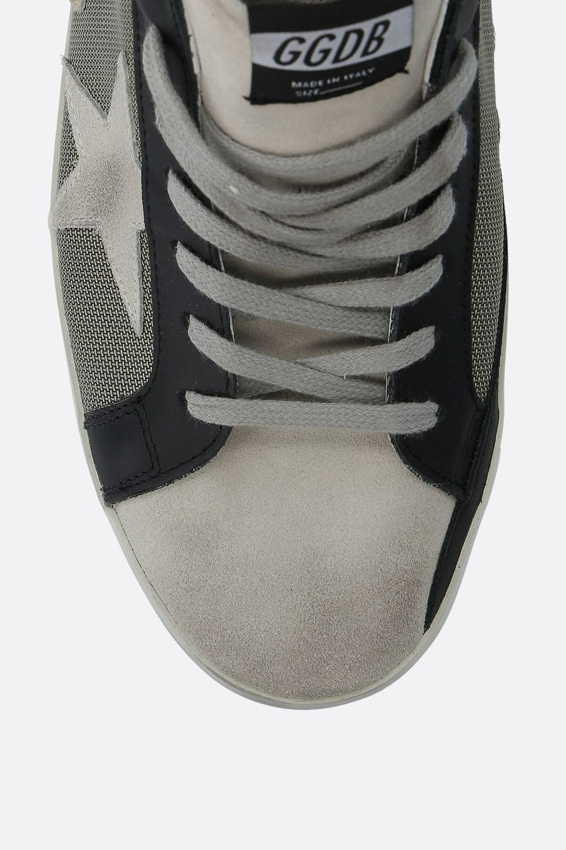 GOLDEN GOOSE DELUXE BRAND: Superstar sneakers in leather and mesh Color Black_4