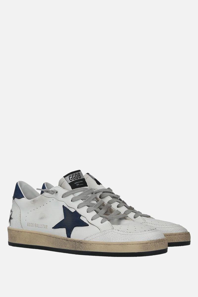 GOLDEN GOOSE DELUXE BRAND: Ball Star sneakers in smooth leather and nabuk Color Multicolor_2