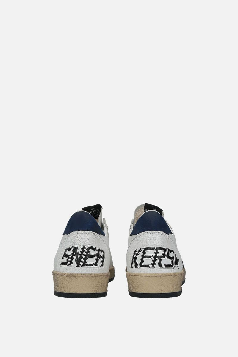GOLDEN GOOSE DELUXE BRAND: Ball Star sneakers in smooth leather and nabuk Color Multicolor_3