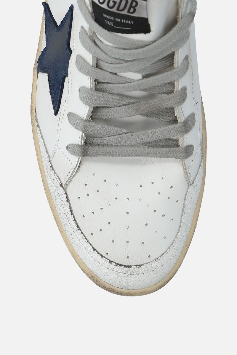 GOLDEN GOOSE DELUXE BRAND: Ball Star sneakers in smooth leather and nabuk Color Multicolor_4