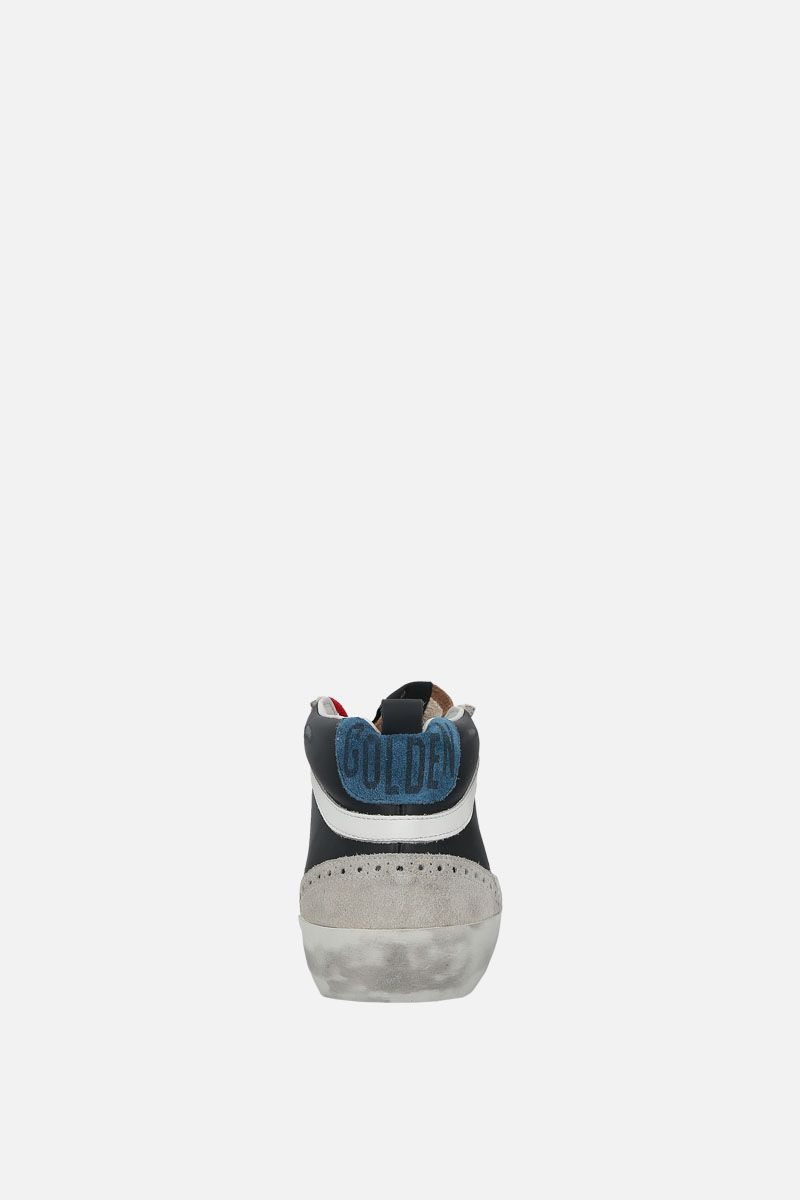 GOLDEN GOOSE DELUXE BRAND: Mid-Star sneakers in smooth leather and suede Color Black_3
