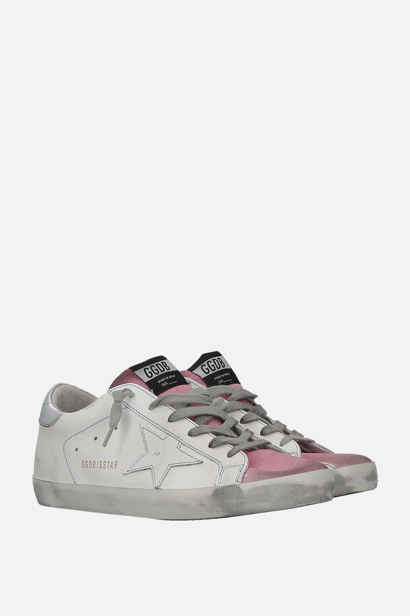 GOLDEN GOOSE DELUXE BRAND: Superstar sneakers in smoooth leather and suede Color Multicolor_2