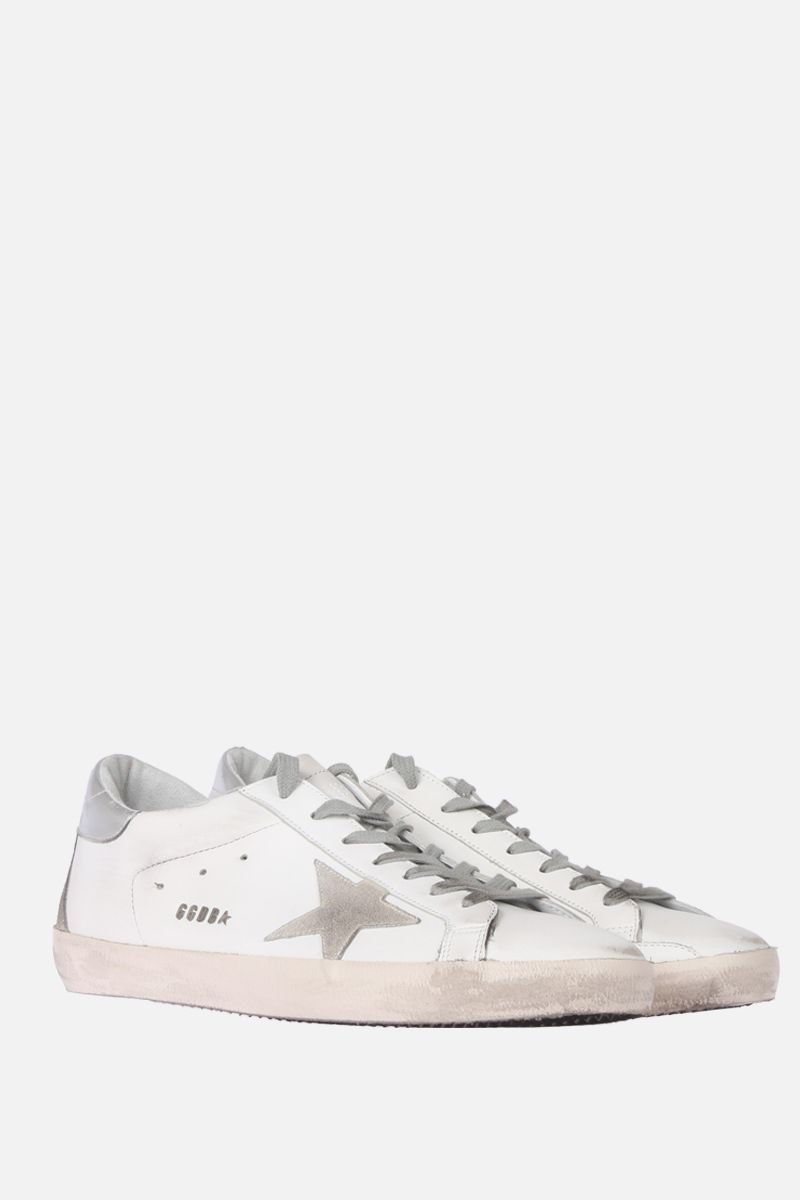 GOLDEN GOOSE DELUXE BRAND: Superstar sneakers in smooth leather and suede Color Multicolor_2