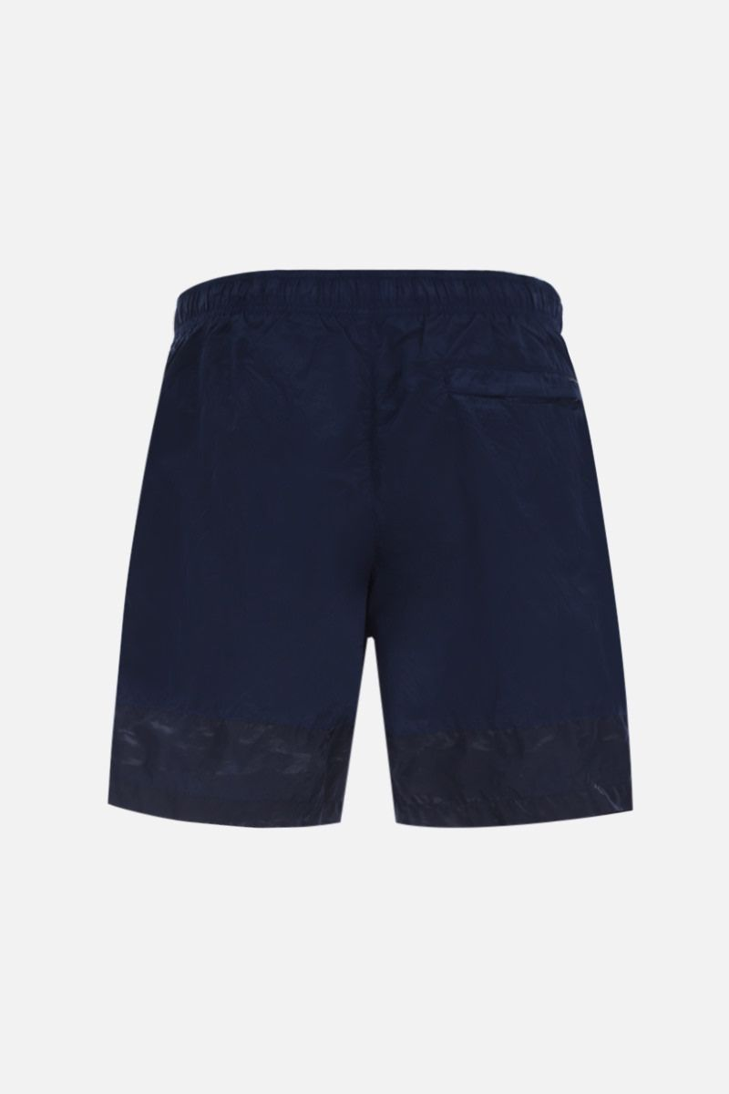 STONE ISLAND SHADOW PROJECT: technical fabric swim shorts Color Blue_2