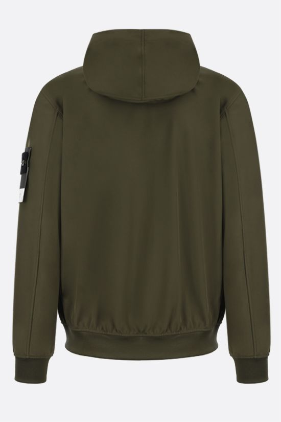 STONE ISLAND: Light Soft Shell-R fabric bomber jacket Color Green_2