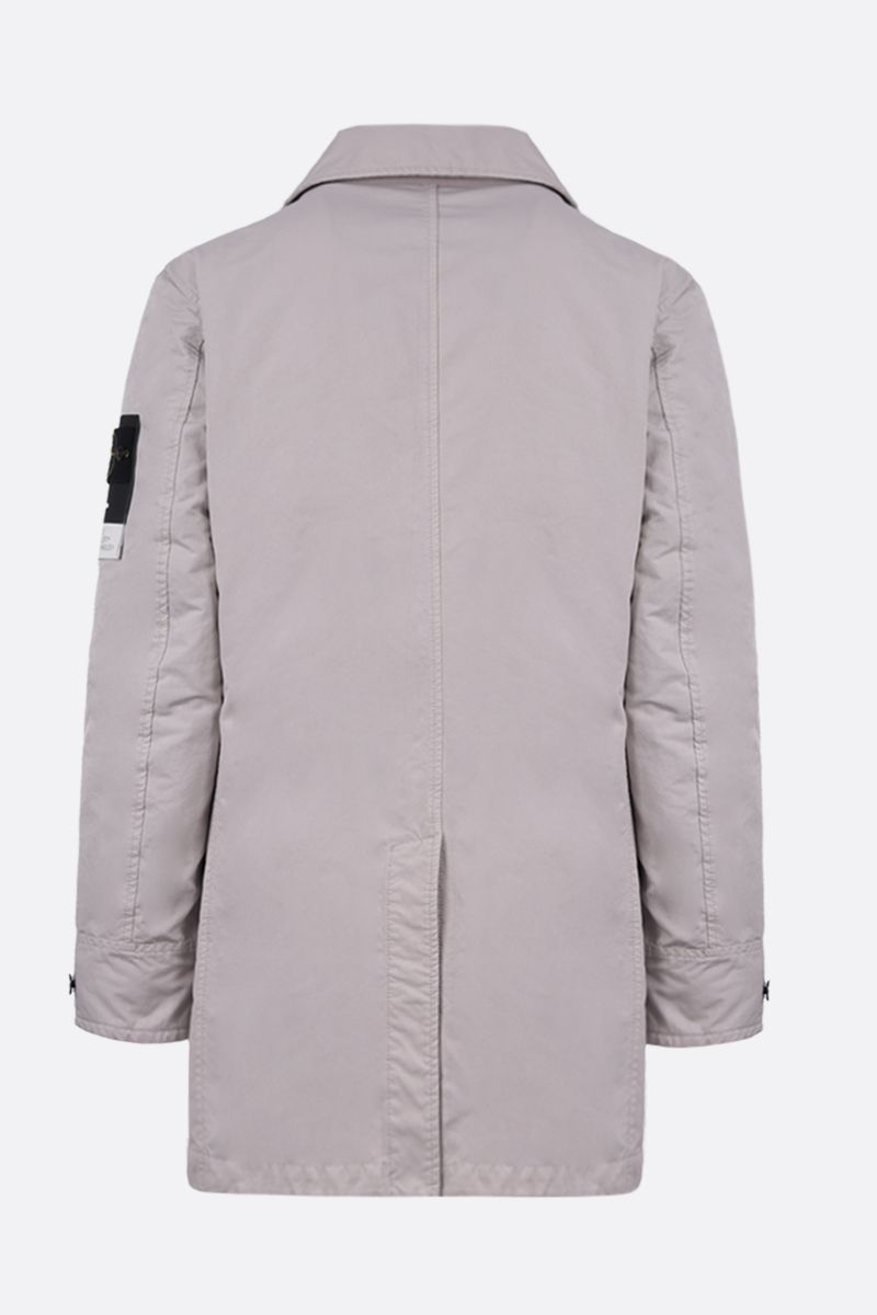 STONE ISLAND: DAVID-TC fabric padded single-breated trench coat Color Grey_2