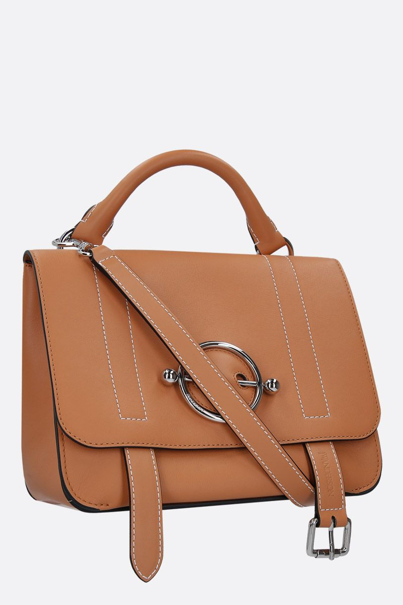 JW ANDERSON: Disc crossbody bag in smooth leather Color Brown_2