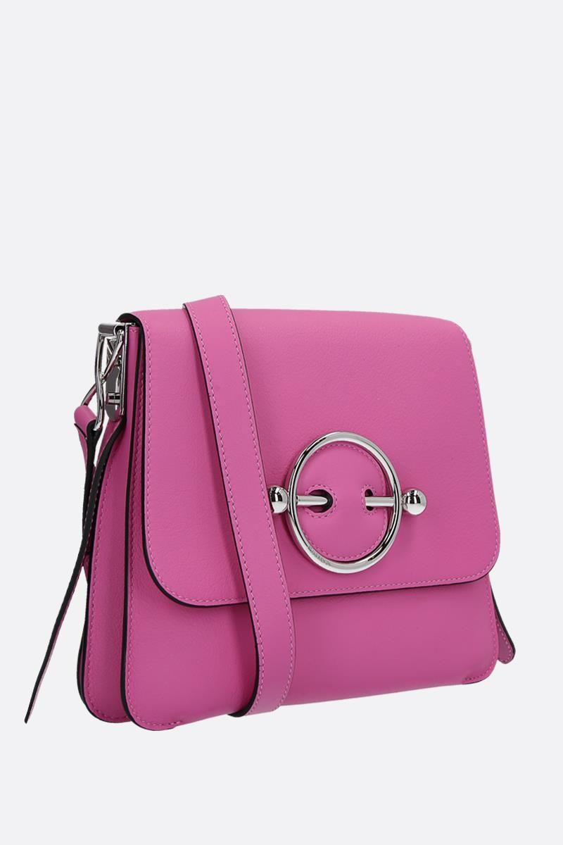JW ANDERSON: Disc leather bag Color Pink_2