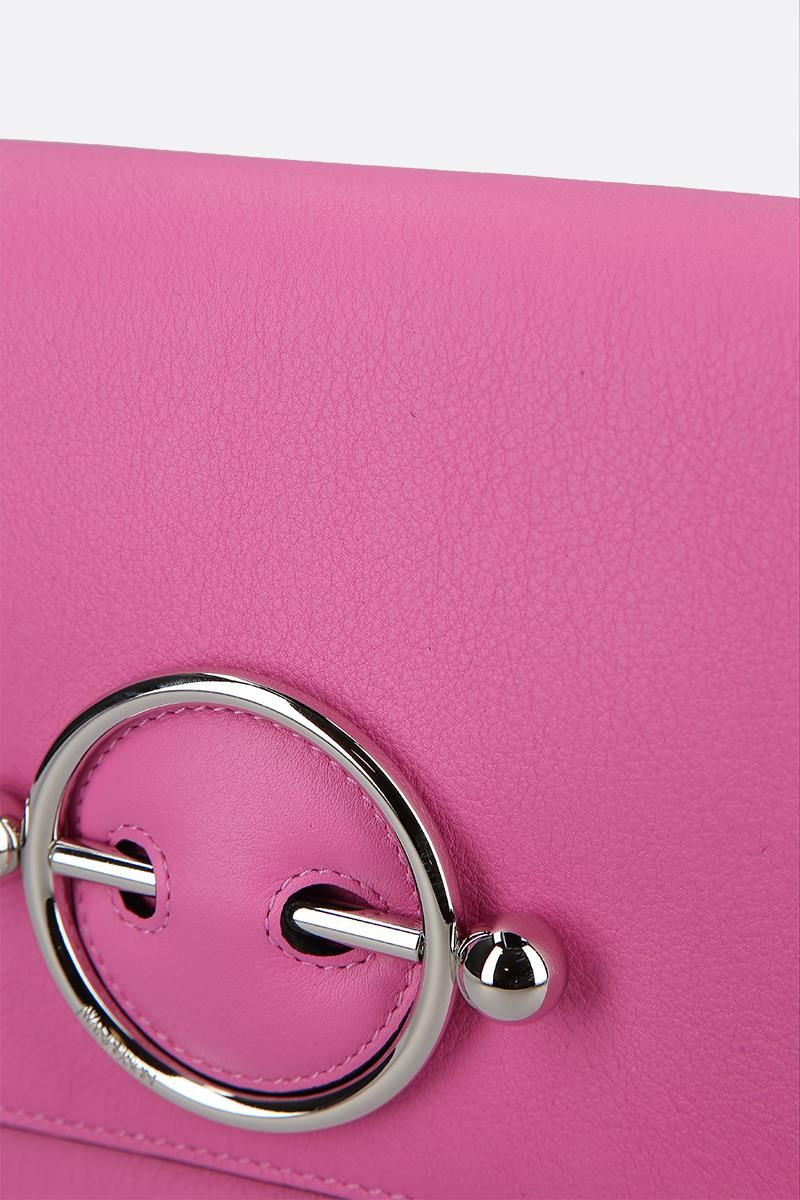 JW ANDERSON: Disc leather bag Color Pink_4