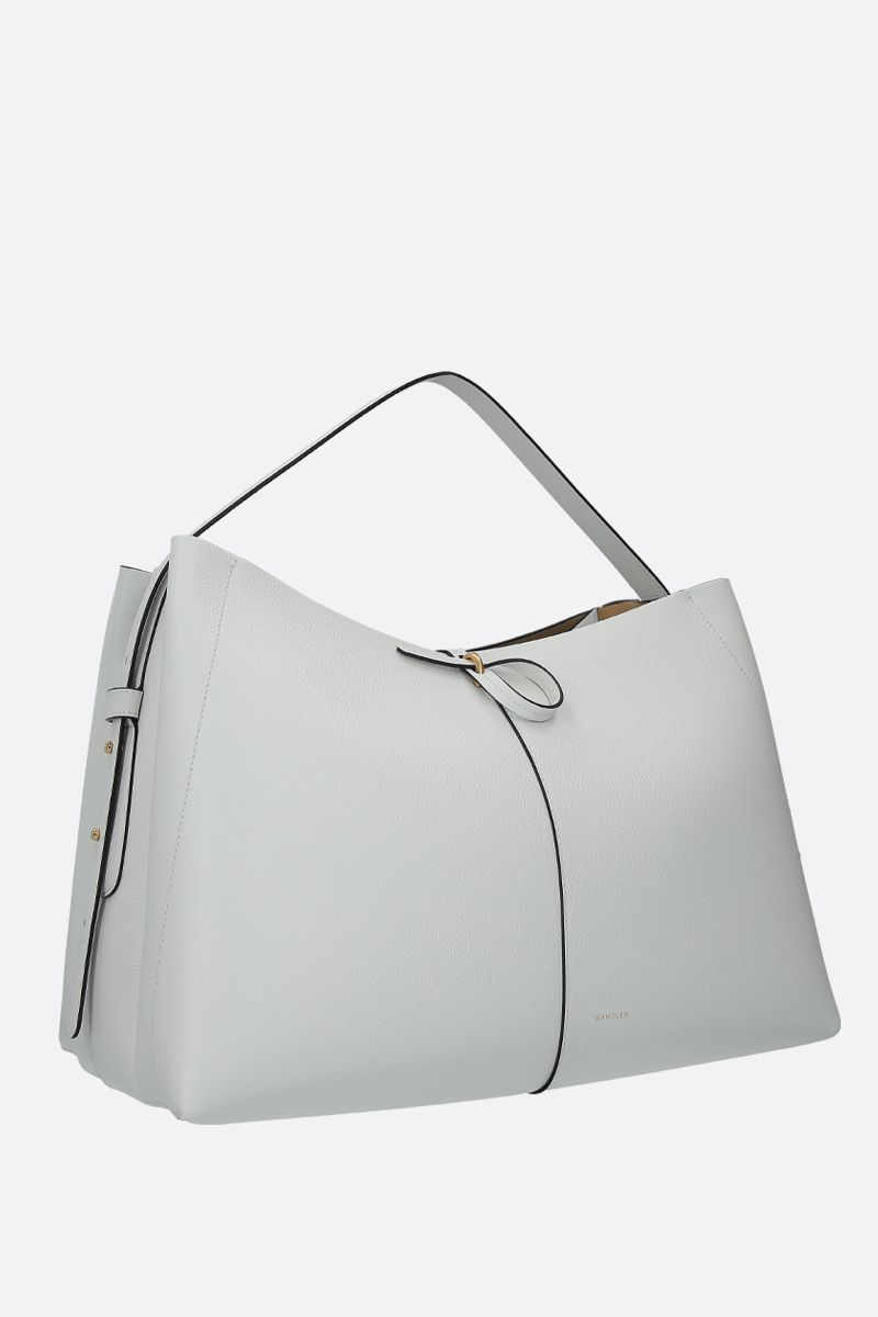 WANDLER: Ava large grainy leather tote Color White_2