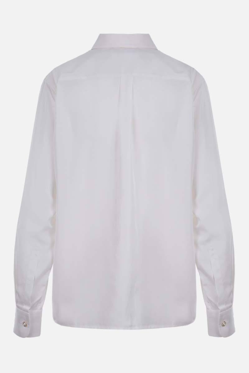 ALESSANDRA RICH: jewel button-detailed silk shirt Color White_2