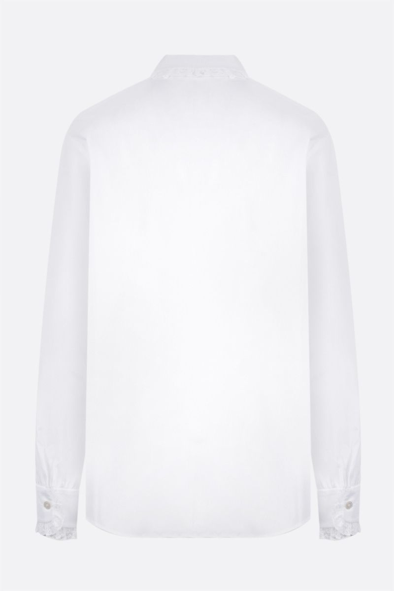 ALESSANDRA RICH: lace-embellished cotton shirt Color White_2