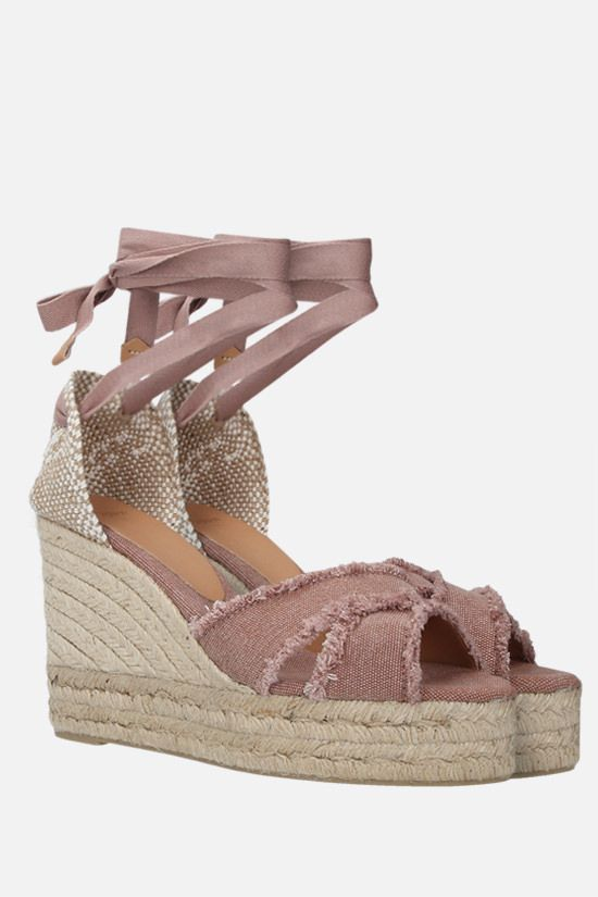 CASTANER: Bluma canvas and jute wedge sandals Color Pink_2