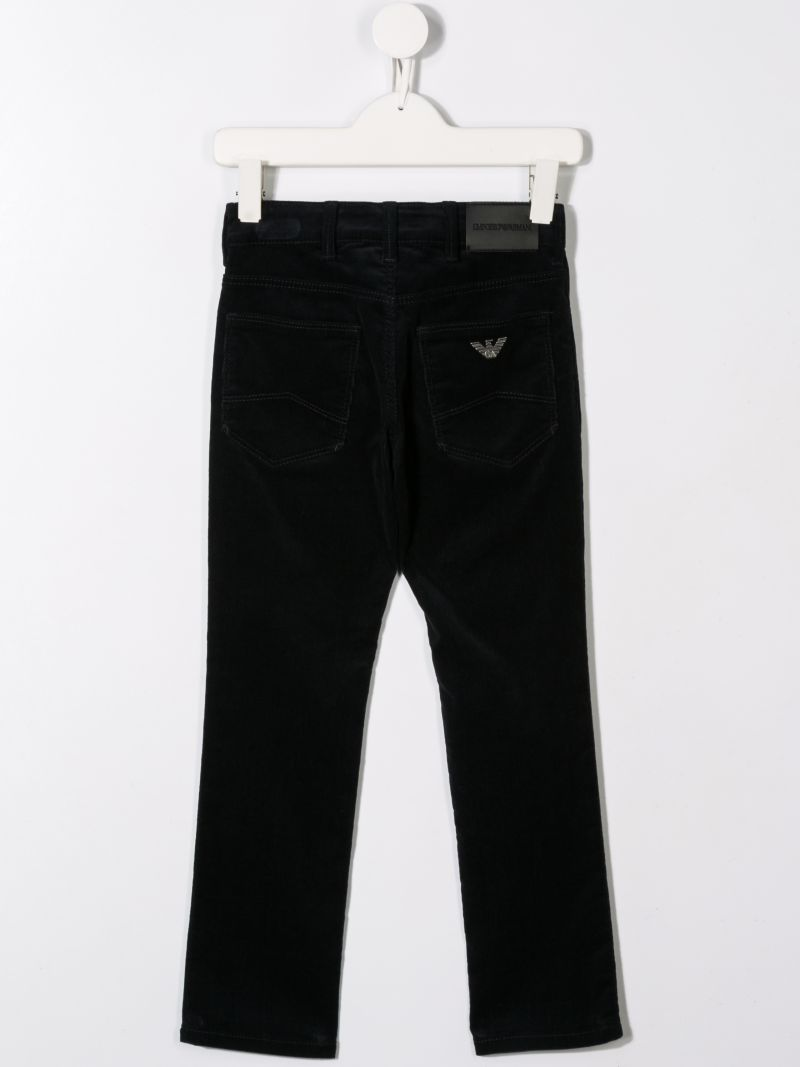 ARMANI JUNIOR: pantalone in velluto a costine_2