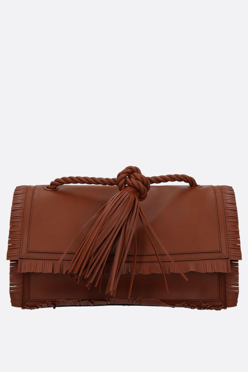 VALENTINO GARAVANI: The Rope large smooth leather shoulder bag_1