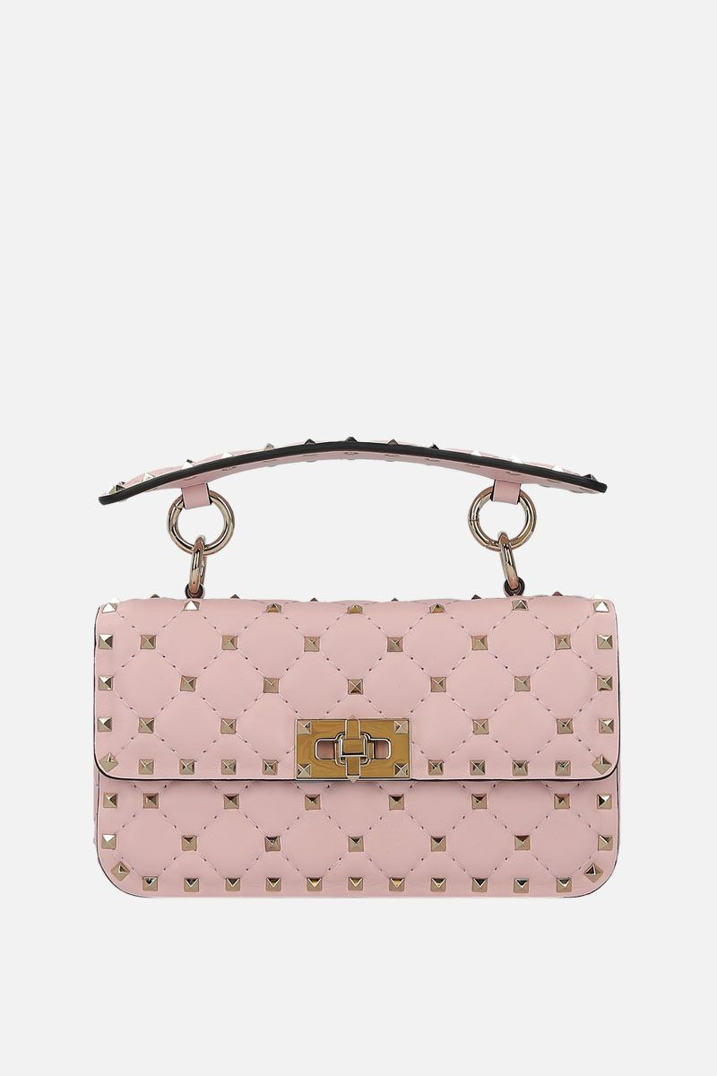 VALENTINO GARAVANI: Rockstud Spike small chain bag in quilted nappa_1