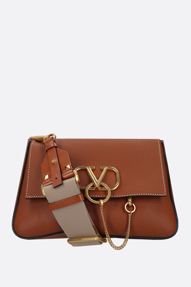 VALENTINO GARAVANI: VRING small shoulder bag in grainy leather_1