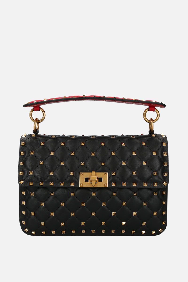 VALENTINO GARAVANI: Rockstud Spike medium shoulder bag in quilted leather_1
