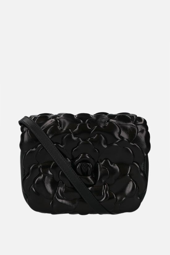 VALENTINO GARAVANI: Atelier Bag 03 Rose Edition small smooth leather shoulder bag Color Black_1