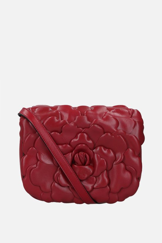 VALENTINO GARAVANI: Atelier Bag 03 Rose Edition small smooth leather shoulder bag Color Red_1
