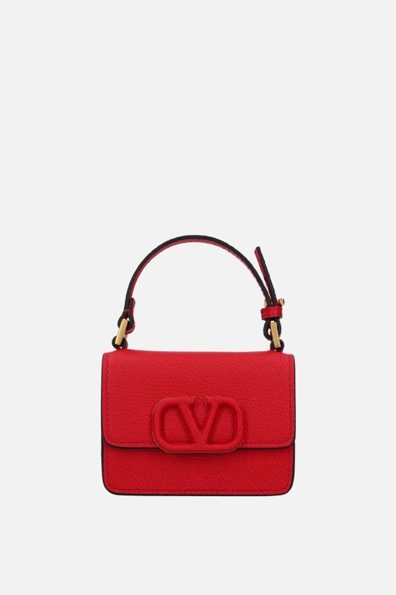 VALENTINO GARAVANI: VSLING grainy leather chain wallet Color Red_1