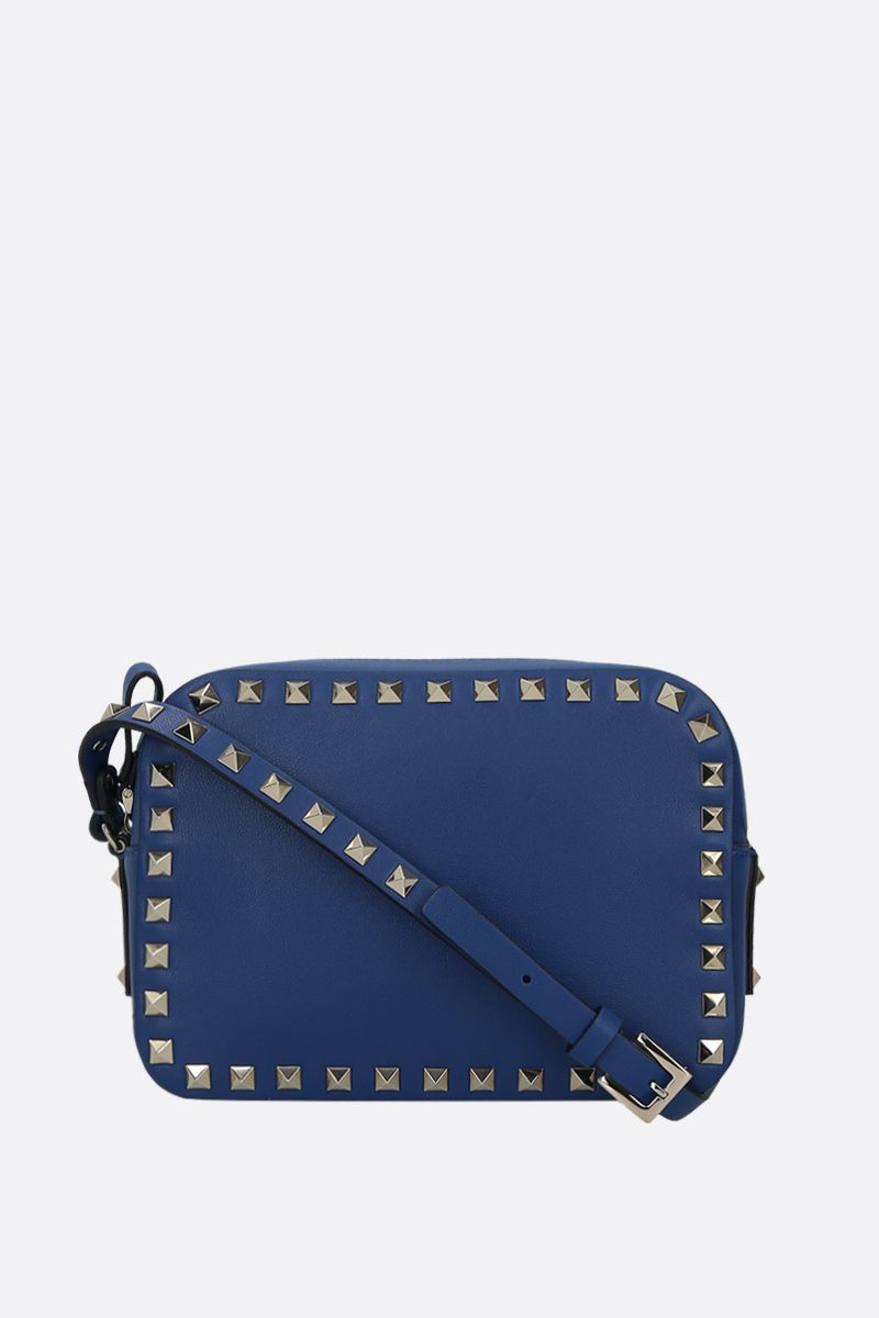 VALENTINO GARAVANI: Rockstud small smooth leather camera bag_1