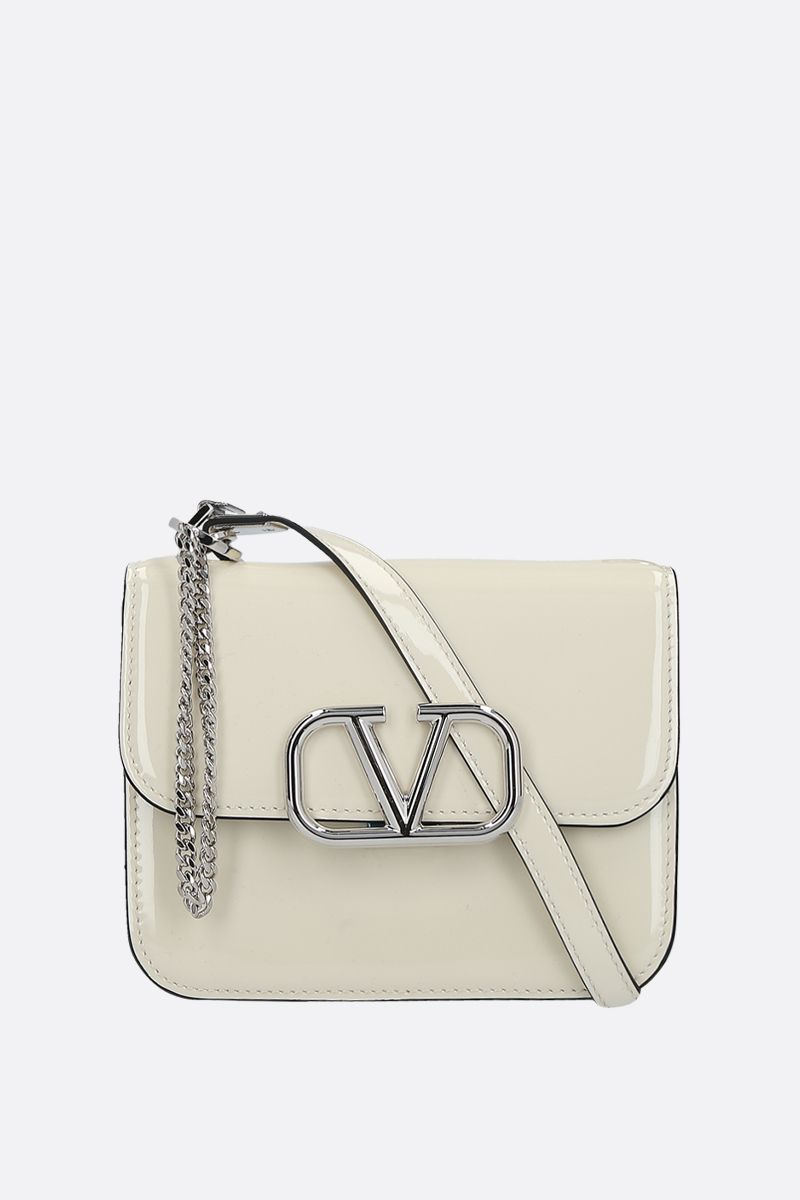 VALENTINO GARAVANI: VSLING small patent leather shoulder bag Color Neutral_1