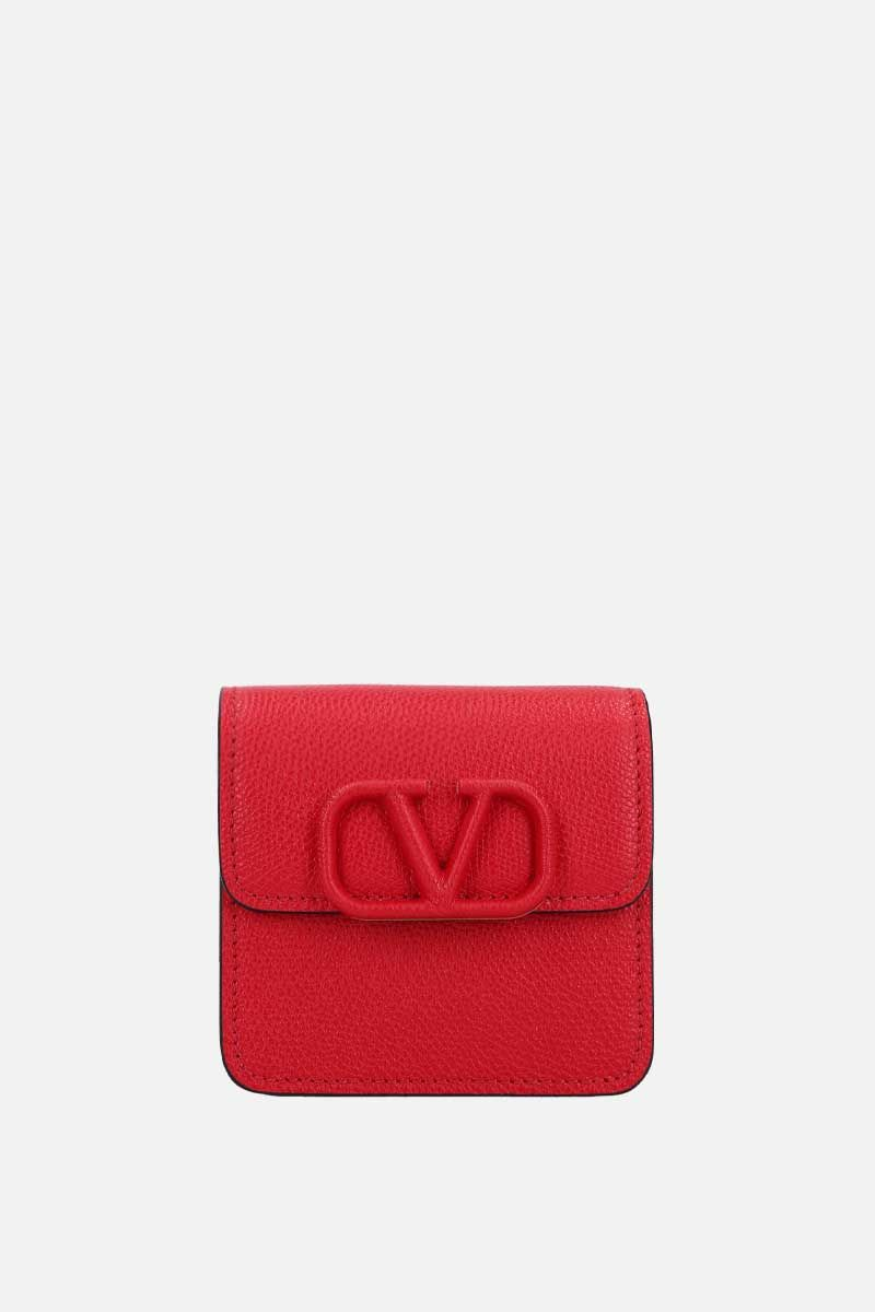 VALENTINO GARAVANI: VSLING grainy leather chain wallet_1