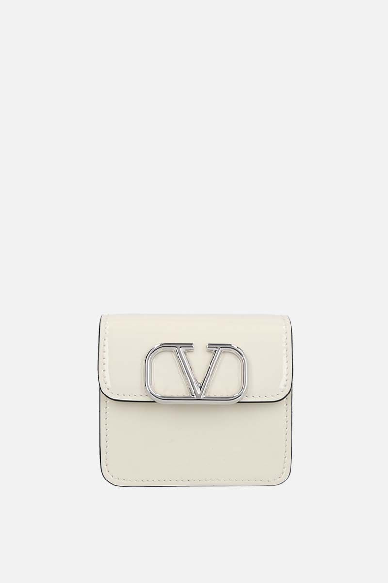 VALENTINO GARAVANI: VSLING patent leather chain wallet Color Neutral_1