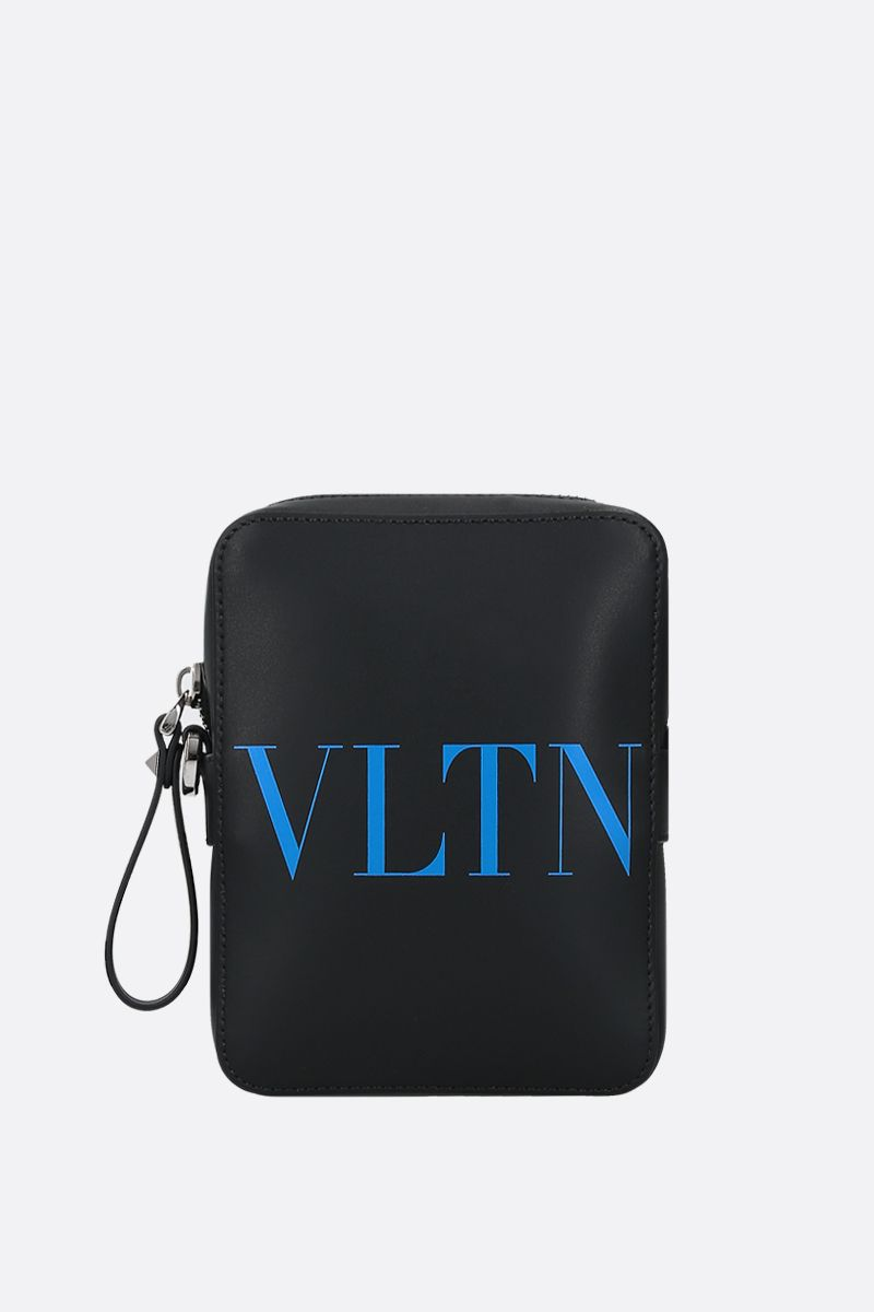 VALENTINO GARAVANI: VLTN smooth leather crossbody bag_1