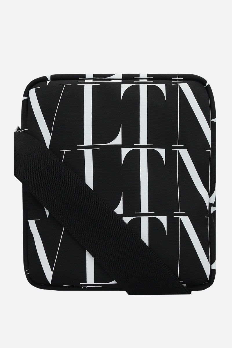 VALENTINO GARAVANI: VLTN TIMES nylon messenger bag Color Black_1