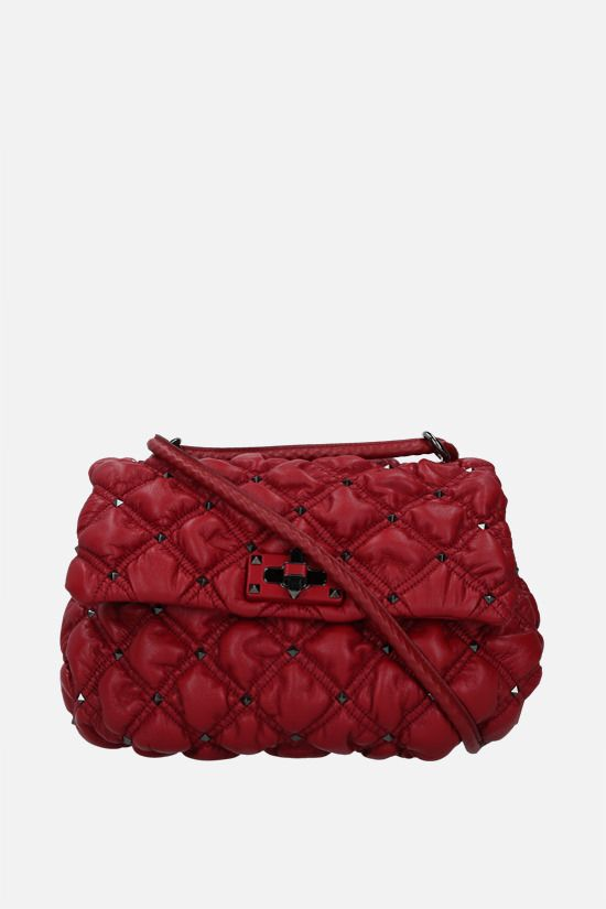 VALENTINO GARAVANI: SpikeMe medium quilted nappa shoulder bag Color Red_1