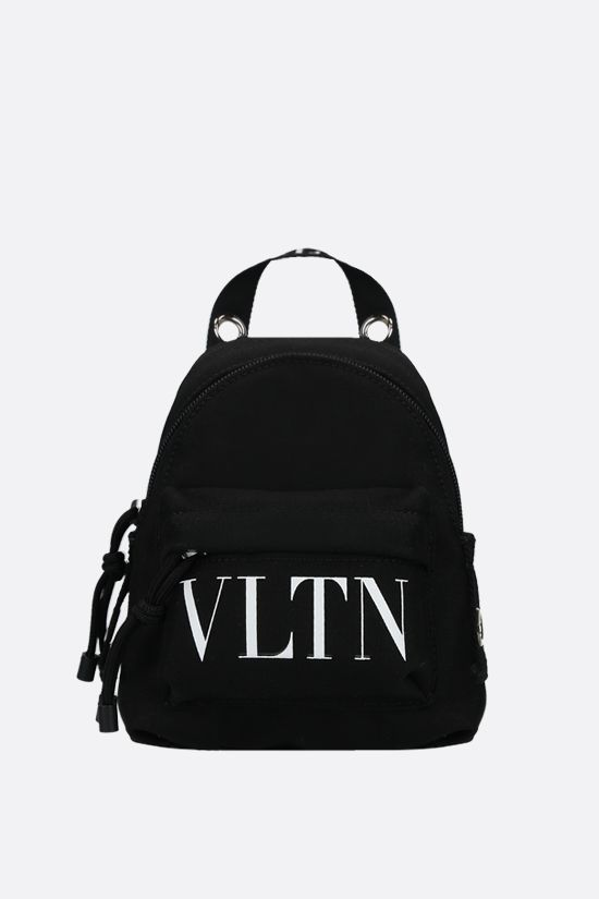 VALENTINO GARAVANI: VLTN mini nylon backpack Color Black_1