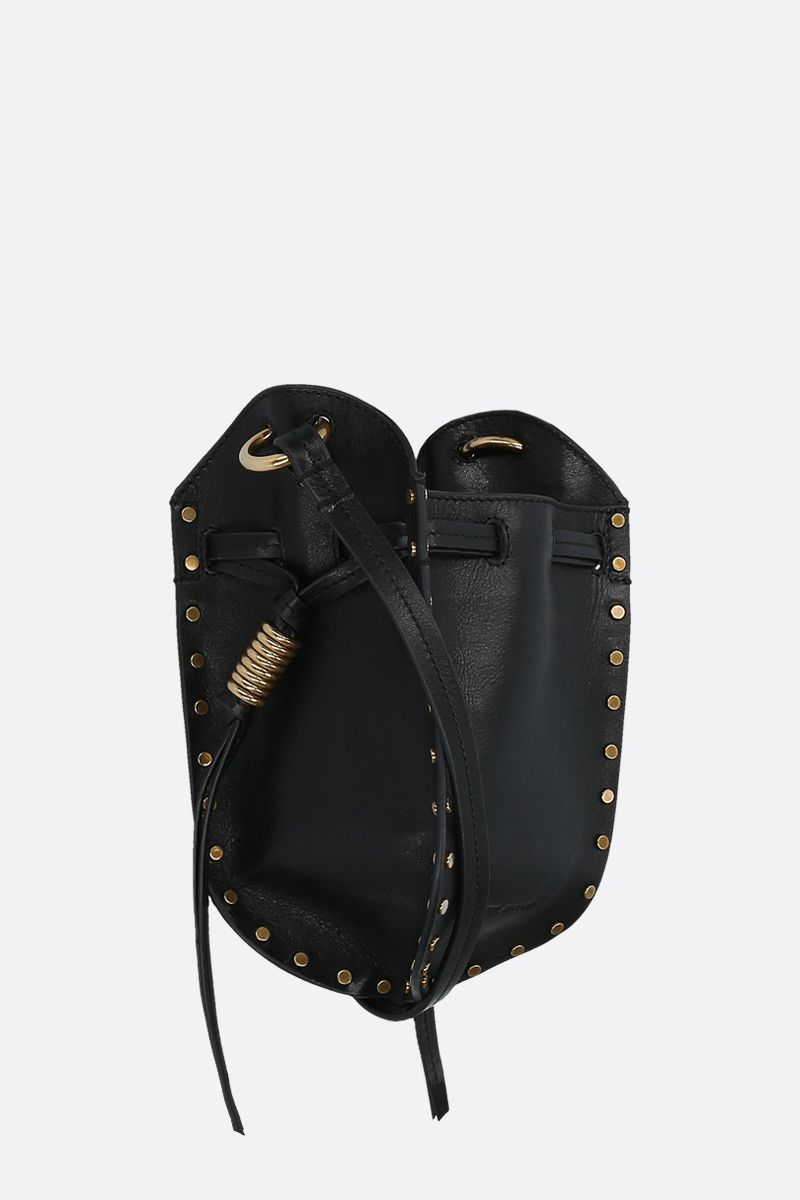 ISABEL MARANT: Radji studded leather shoulder bag Color Black_2