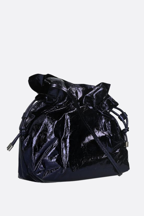 ISABEL MARANT: Ailey laminated leather shoulder bag Color Black_2