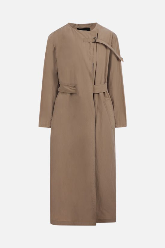 ISABEL MARANT: Ilifawn oversize nylon overcoat Color Neutral_1