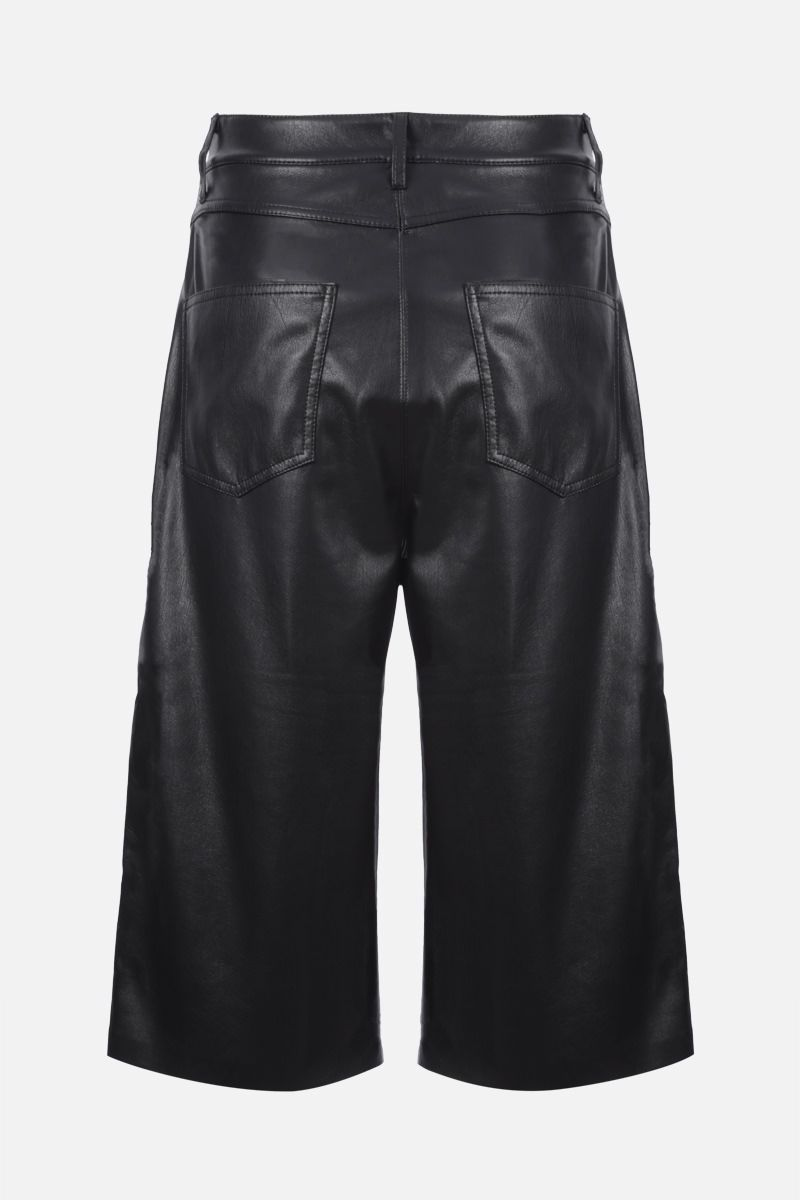 NANUSHKA: Nampeyo vegan faux leather shorts Color Black_2