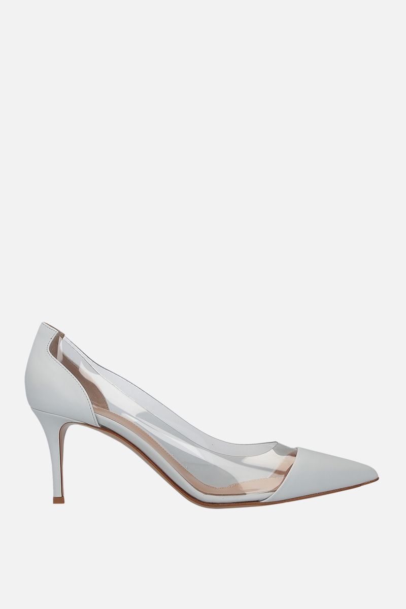 GIANVITO ROSSI: Plexi pumps in smooth leather and PVC_1