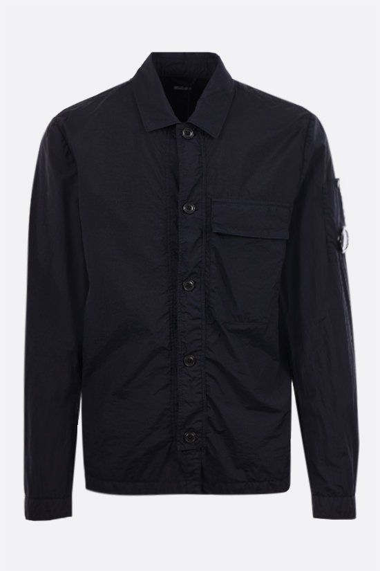 CP COMPANY: garment dyed Taylon L fabric overshirt Color Blue_1