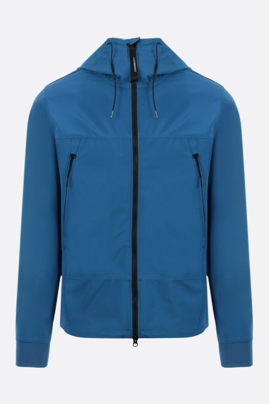 CP COMPANY: Goggle windbreaker in CP Shell-R fabric Color Blue_1